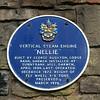Vertical Steam Engine Blue Plaque