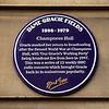 Dame Gracies Fields Purple Plaque.