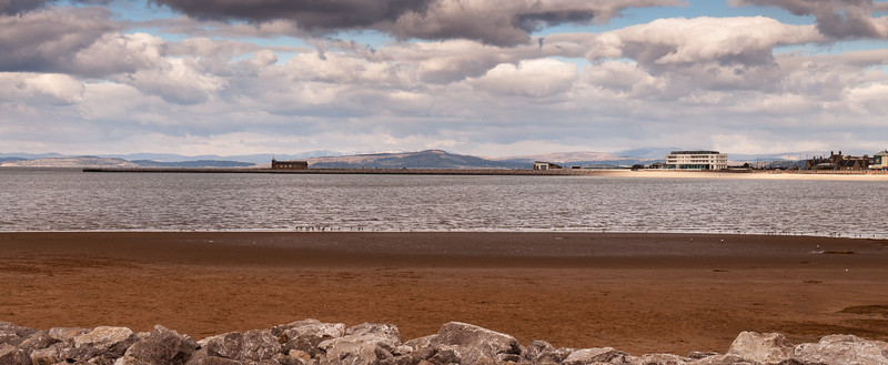 Morecambe beach and bay