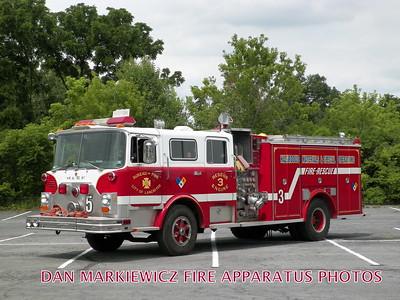 LANCASTER CITY FIRE DEPT. ENGINE 5 1983 MACK/92 ALLEGHENY PUMPER