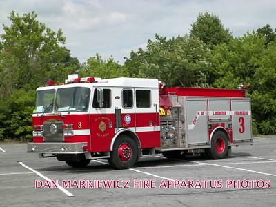 LANCASTER CITY FIRE DEPT. ENGINE 3 2002 KME PUMPER