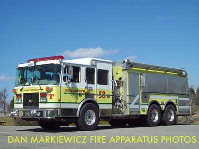 RAWLINSVILLE FIRE CO. TANKER 5-8 2000 SPARTAN/FIRECAB TANKER/PUMPER