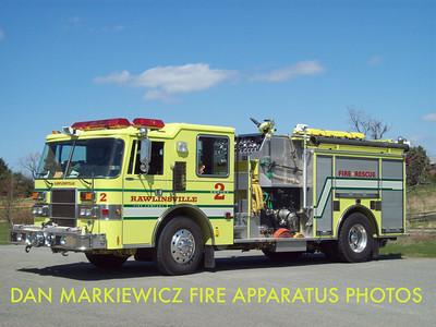 RAWLINSVILLE FIRE CO. ENGINE 5-8-2 1992 PIERCE PUMPER