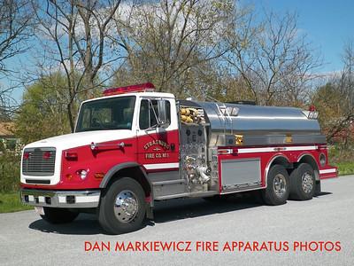 STRASBURG FIRE CO. TANKER 5-10 2000 FREIGHTLINER/S&S TANKER