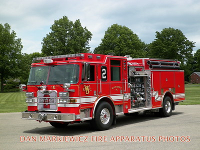 WILLOW STREET FIRE CO. ENGINE 50-2 2010 PIERCE PUMPER