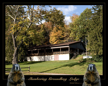 This 16x20 composite Photo is was taken of the famous southern Lancaster County Groundhog Lodge. Other sizes can be made by special order.