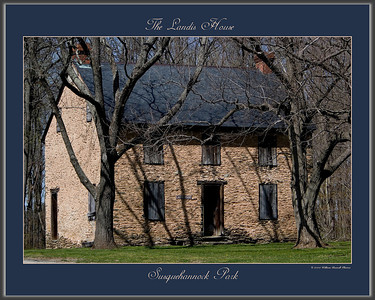 """Landis House"" located in the Susquehannock Park in southern Lancaster County, PA"