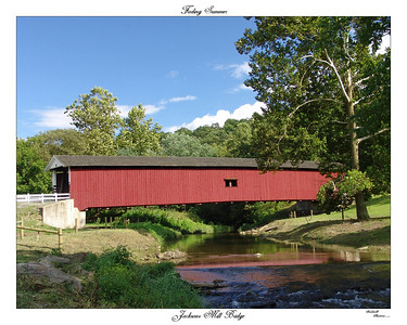 This is a summer scene of the Jackson Mill Bridge on Mt. Pleasant Rd. east of Quarryville