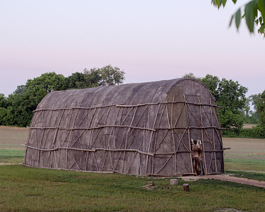 This is a replica of the long house used by the indians when living in this area.  Located across the road from the Hans Herr House in Willow Street, PA.