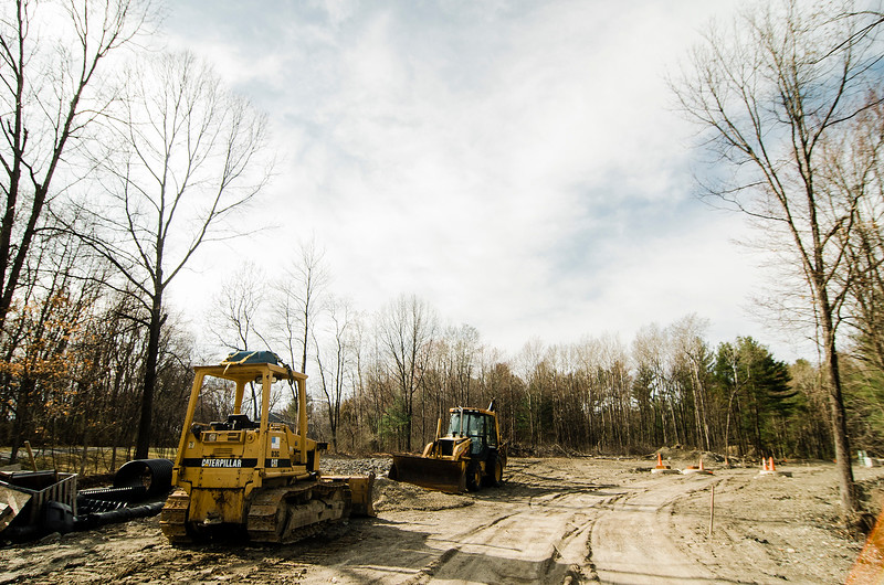 A housing development off of Deershorn Road in Lancaster has approved under 40B and is under construction, as seen on Thursday, April 13, 2017. SENTINEL & ENTERPRISE / Ashley Green