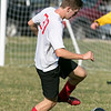 Trivium High School boys soccer played South Lancaster Academy on Thursday afternoon in Lancaster. THS's Dan Forkey gets control of the ball. SENTINEL & ENTERPRISE/JOHN LOVE