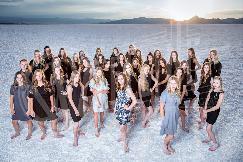 2017 Layton High Lancelles Team Pictures out at Bonneville Salt Flats