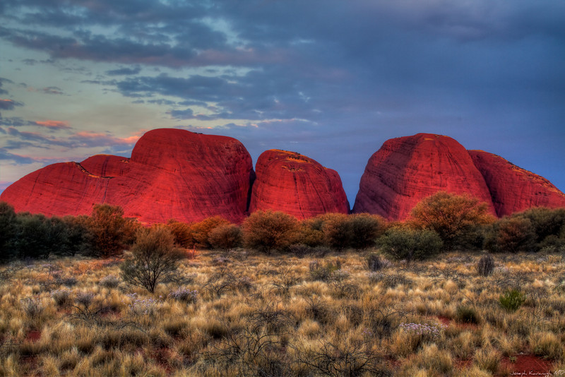 Sunset, The Olgas