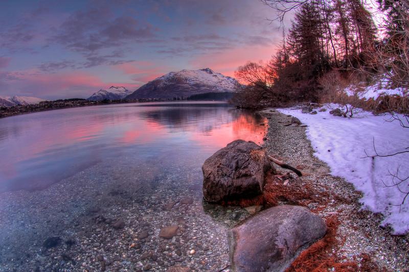 Sunset Over Lake Wakatipu