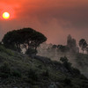 Sunsetting Over Monastery