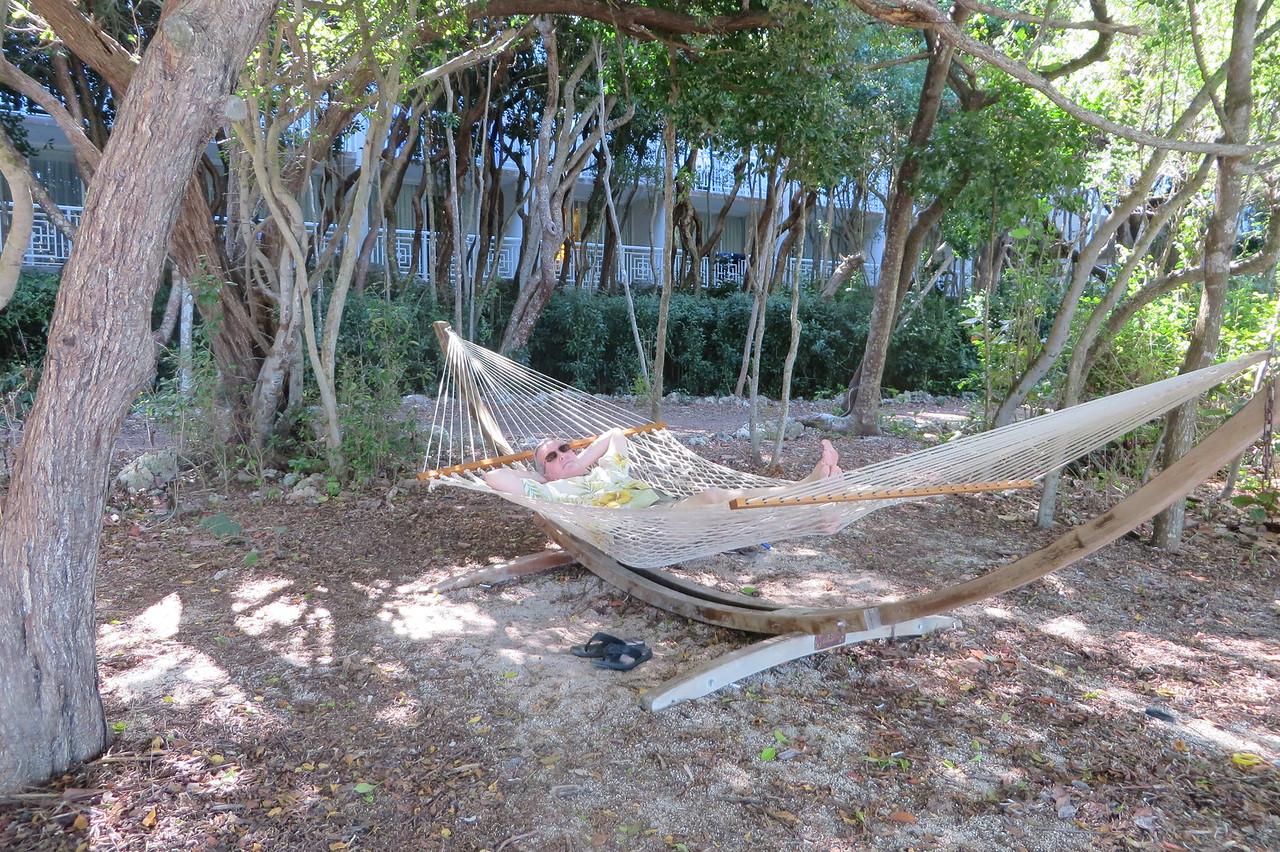Kenny found a hammock