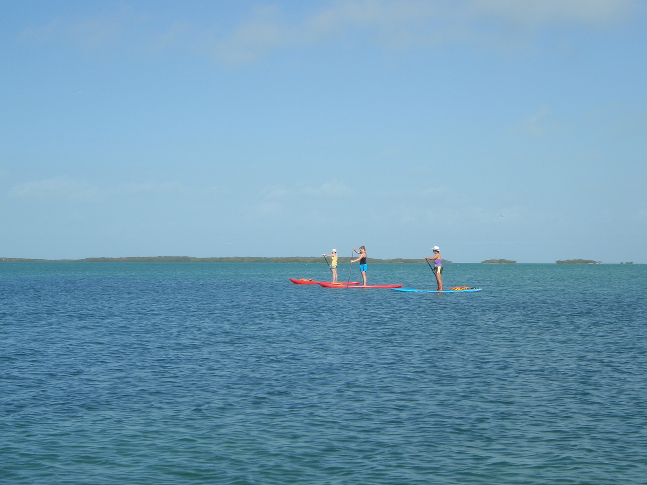 Heading back out to the bay we passed these paddle boarders
