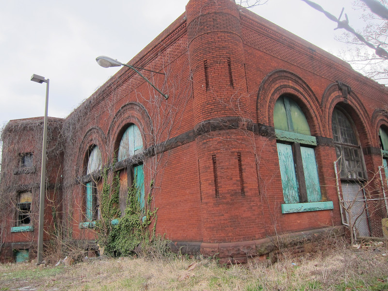 Abandoned public works building