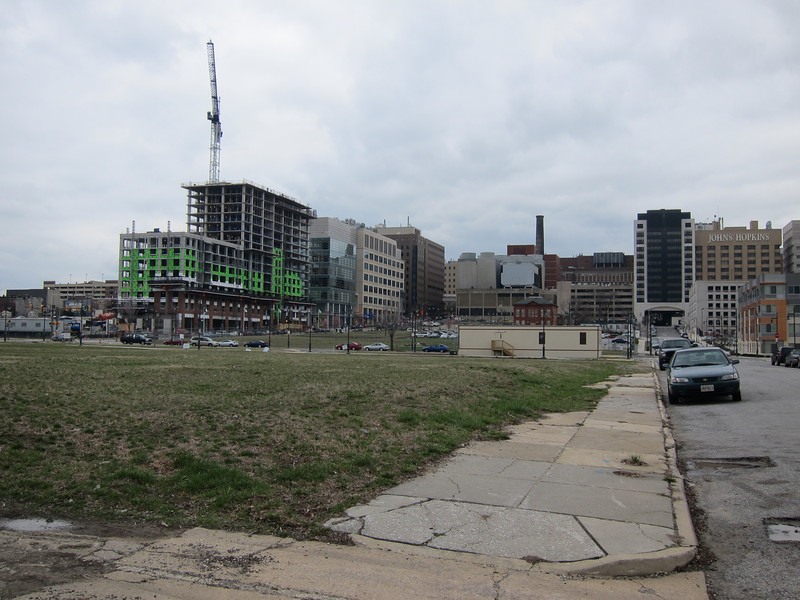 Johns Hopkins Hospital area construction