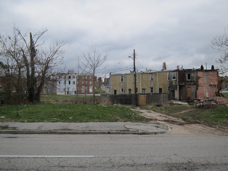 Vacant lots in East Baltimore