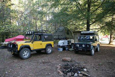 The annual fall event of the Old North State Land Rover club is held at Uwharrie National Forest east of Charlotte, NC. This years event was URE8 and had about 65 trucks in attendance.