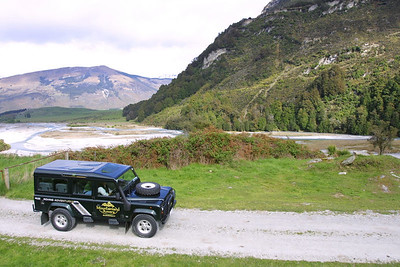 When in doubt, always take the Rover tours. Here we are outside Queenstown.