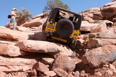 Bob climbs with winch assist