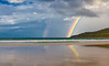 double rainbow, Noosa River Sunset Sunshine Coast, Queensland, Australia