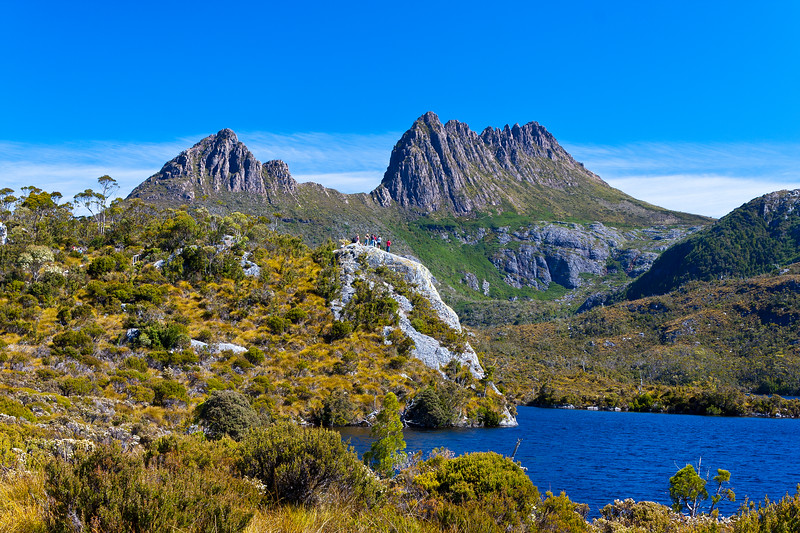 Viewing from Glacier Rock, Dove Lake and Cradle Mountain Tasmania