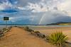double rainbow Noosa Sunset Sunshine Coast, Queensland, Australia