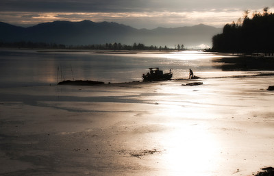 Low Tide at Tillamook Bay, Oregon