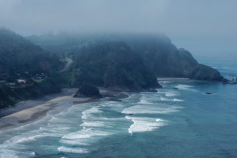 Foggy morning on the Oregon Coast
