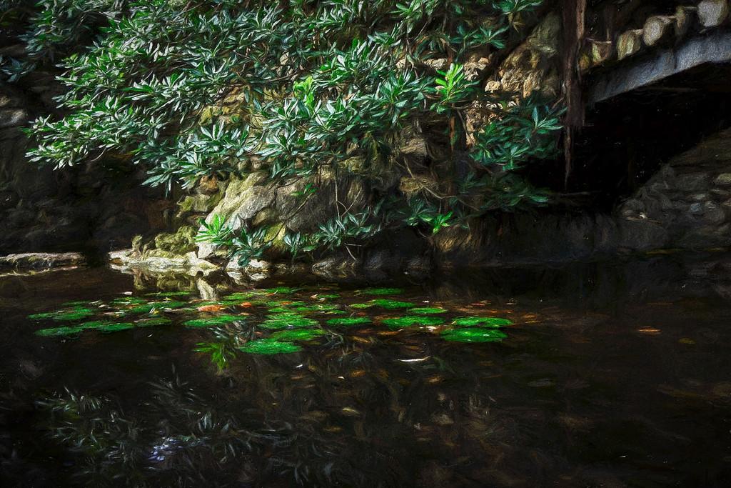 Isamu Taniguchi Japanese Garden, Digital Painting