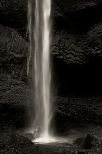 Waterfall in B&W