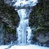 Lower Multnomah Falls in Winter