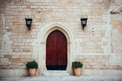 Mallorca Cathedral Courtyard Door