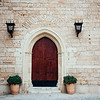 Mallorca Cathedral Courtyard Door