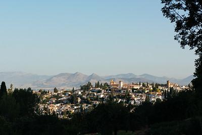 Granada from Alhambra Gardens