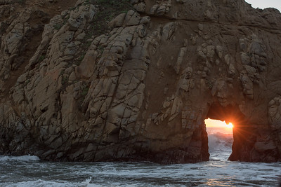 Sunset through the Keyhole Arch