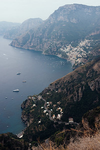 Positano from Path of the Gods - Portrait