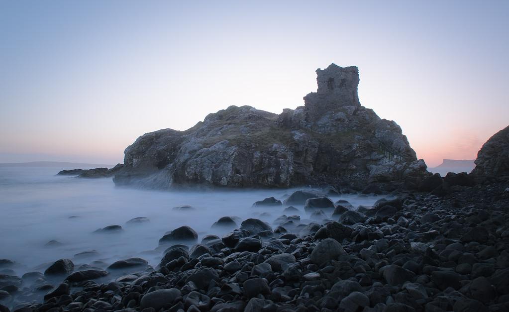 Kinbane Castle at Dawn
