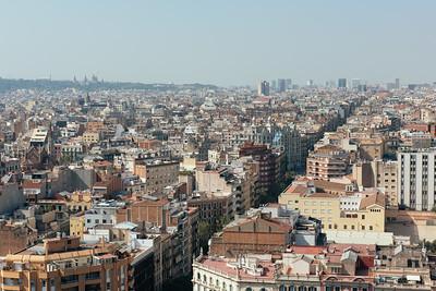 Barcelona from Sagrada Familia Passion Facade