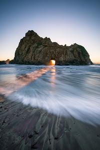 Keyhole Arch Sunset Portrait