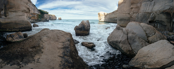 Tunnel Beach from Bottom of Stairs