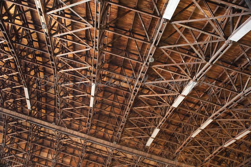 Lakehurst Hangar 6 Long Ceiling Arches