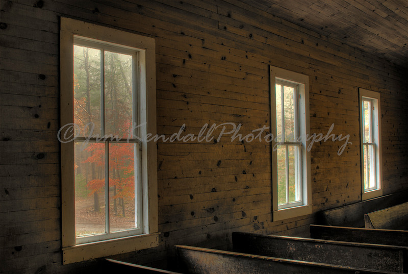 Fall Inside Cades Cove Church