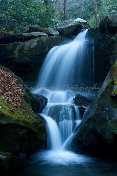 Cascade below Smoky Mountains' Grotto Falls