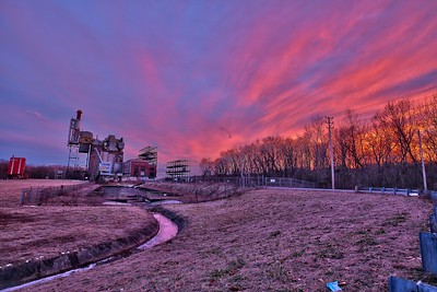 Sunset Sky over abandoned WV Power Plant