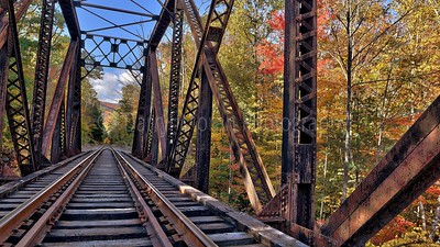 Train Bridge in Autumn