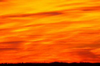 Fiery Sunrise at Oak Hammock Marsh (Minimal processing! This is actually how it looked)